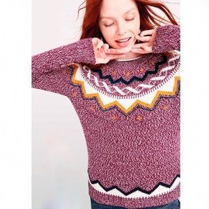 Old Navy Classic Fair Isle Sweater Purple Multi M